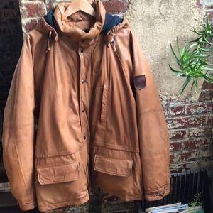 Polo by Ralph Lauren 90s Heavy Leather Coat